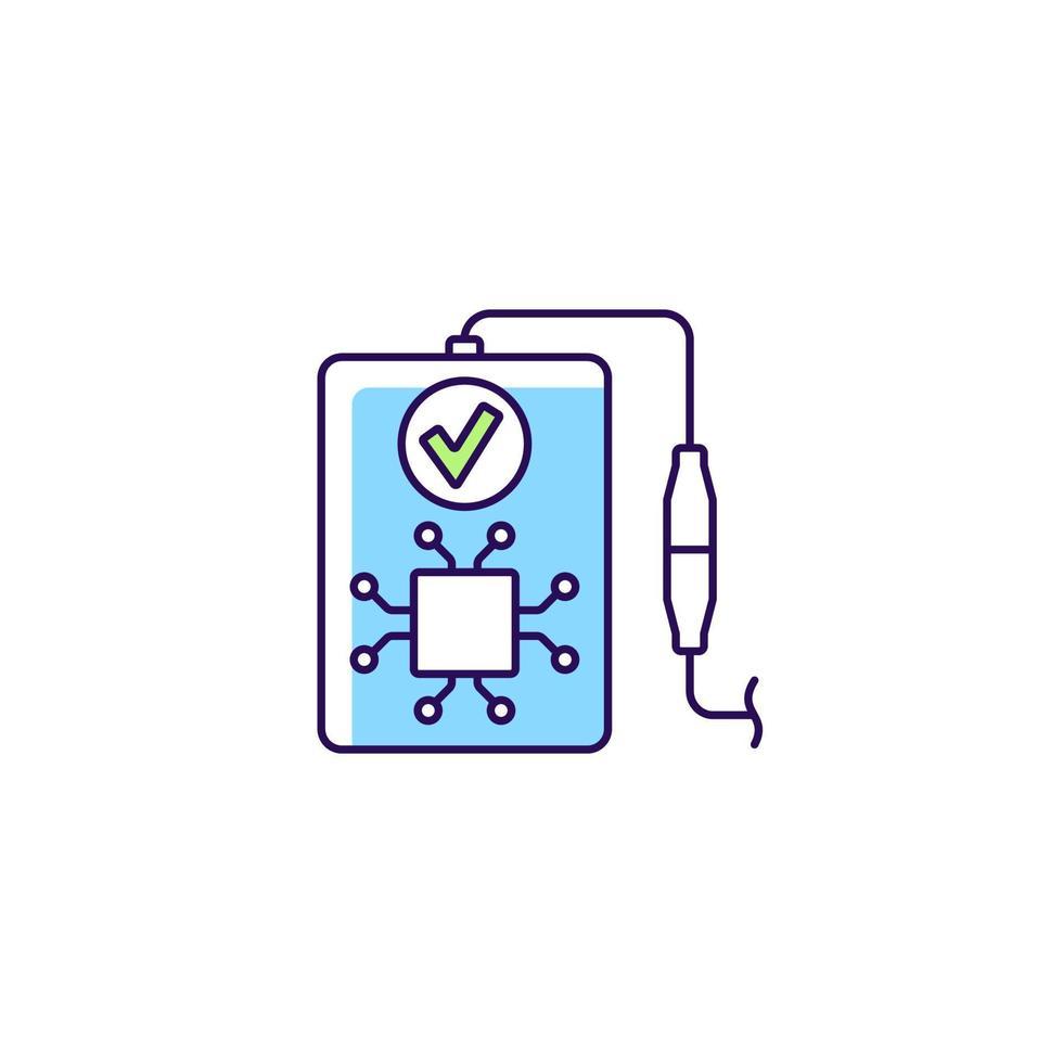 ícone de rótulo manual de cor rgb de reconhecimento inteligente vetor