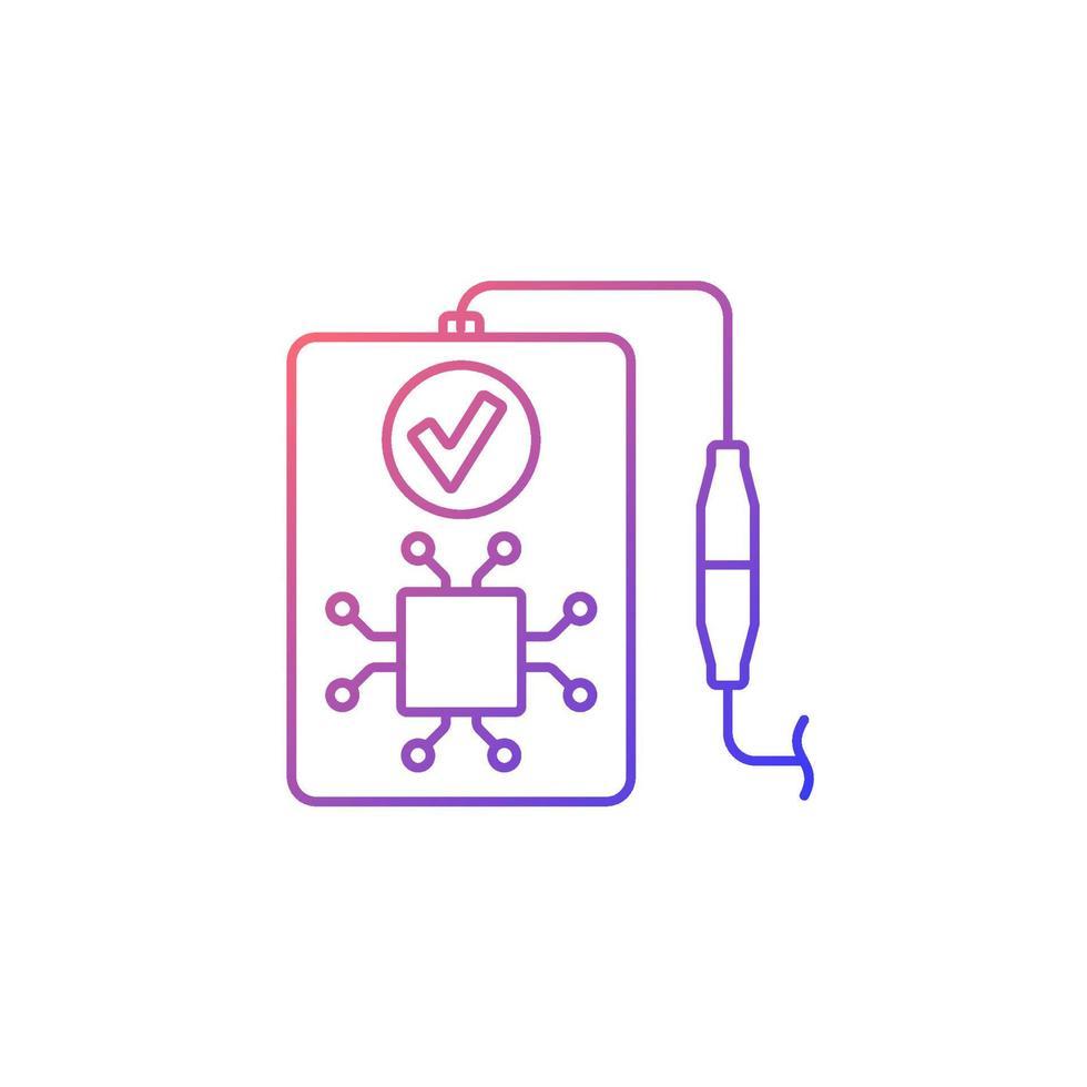 ícone de rótulo manual de vetor linear gradiente de reconhecimento inteligente