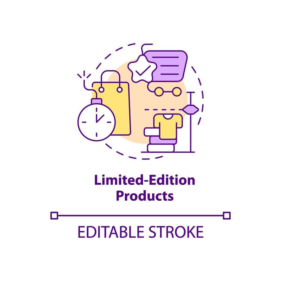 ícone de conceito de produtos de edição limitada vetor