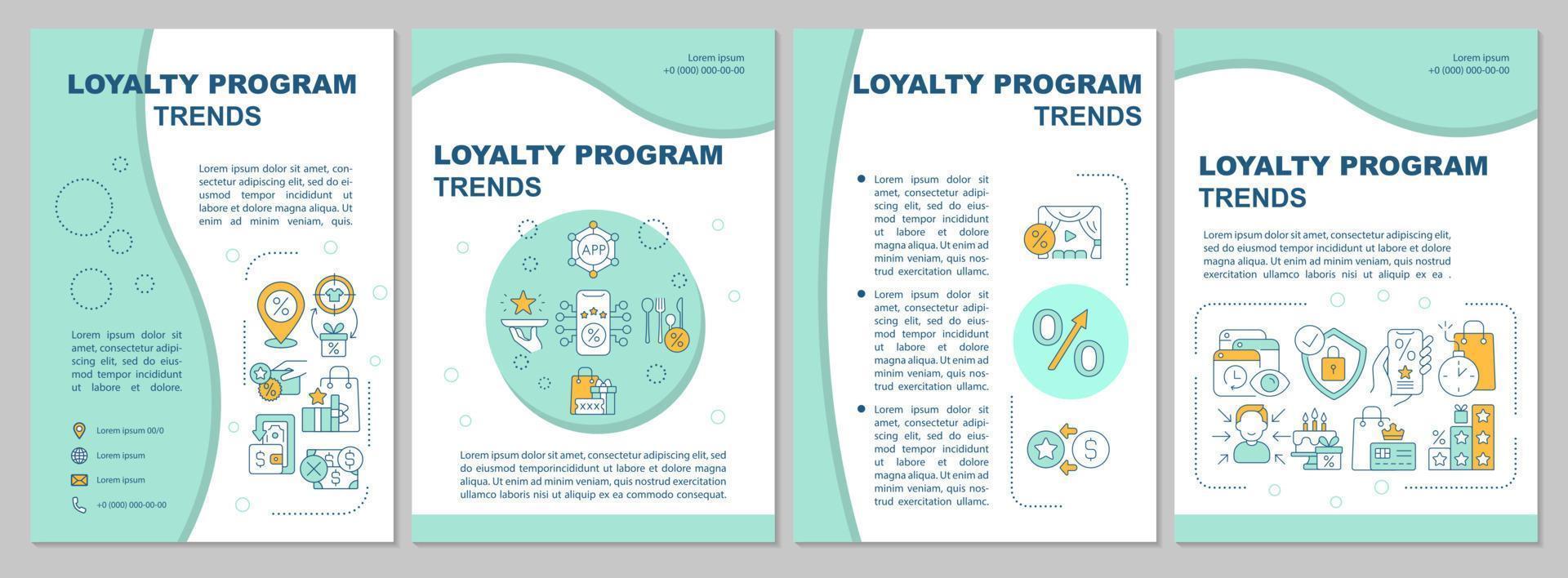 modelo de folheto de tendências do sistema de fidelidade vetor