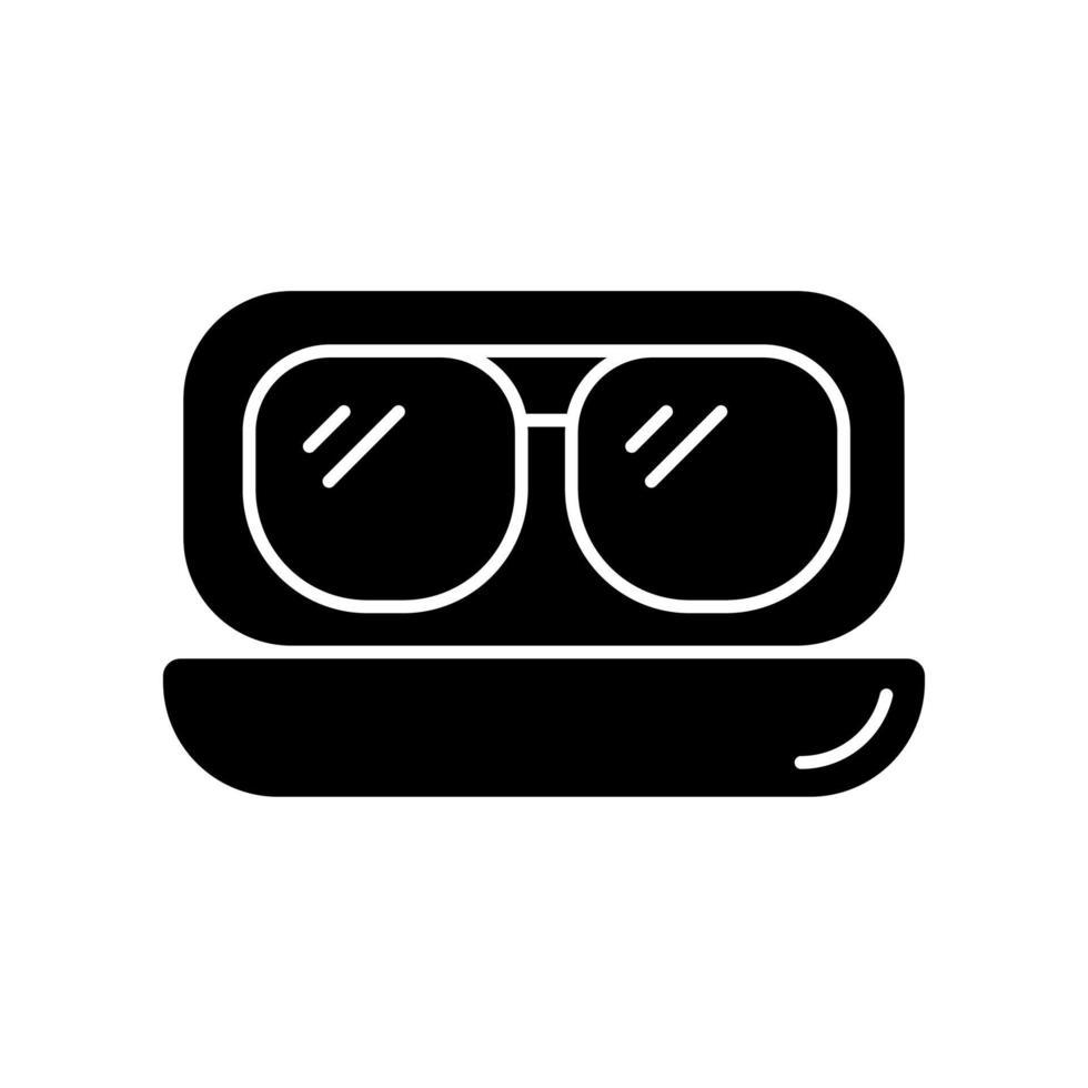 Óculos de sol de aviador ícone de glifo preto vetor