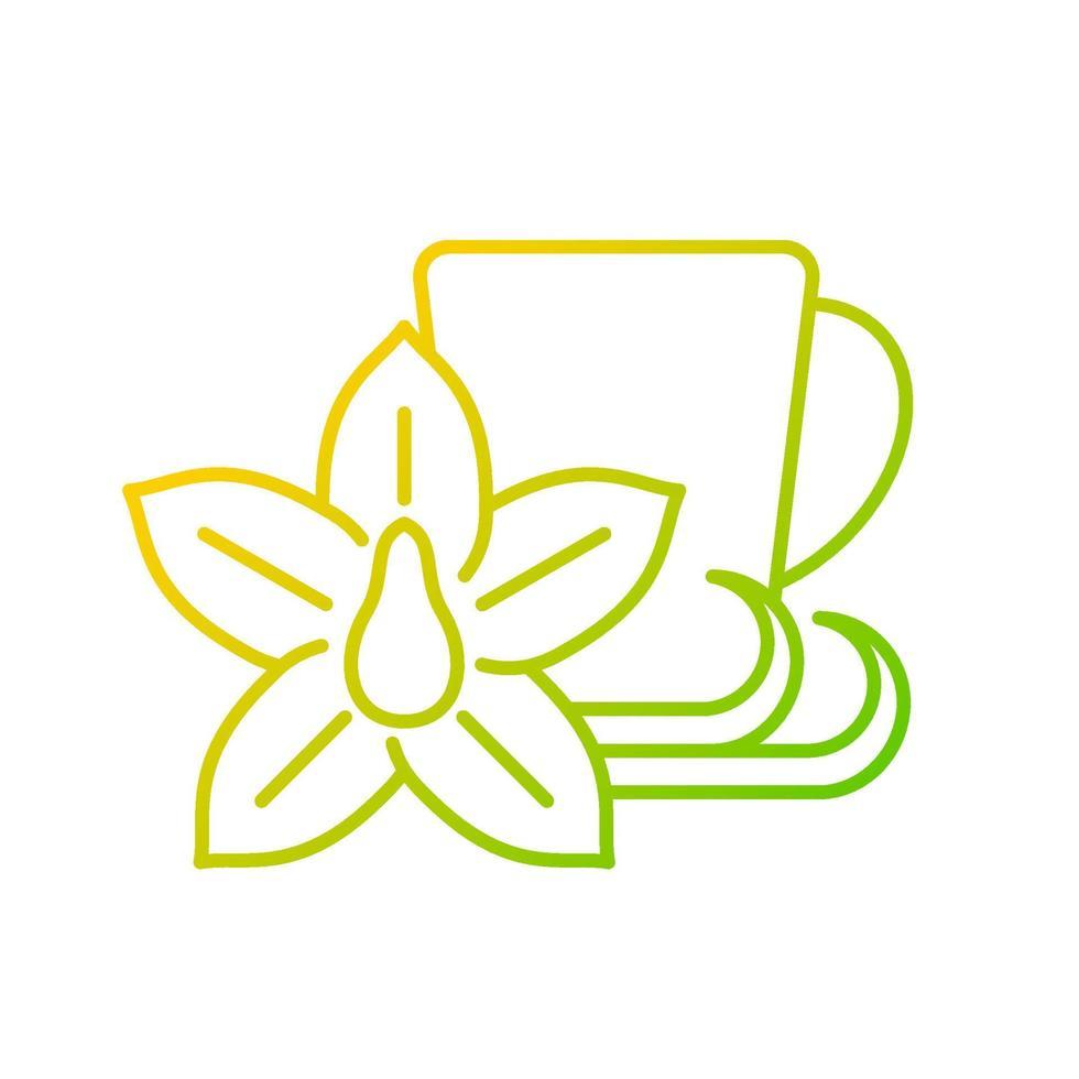 ícone de vetor linear gradiente de chá de baunilha chai