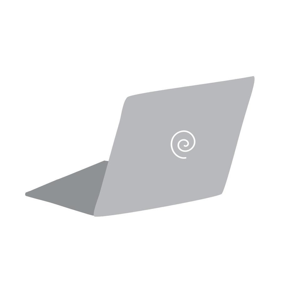 laptop em um fundo branco. um computador pessoal. ilustração vetorial vetor