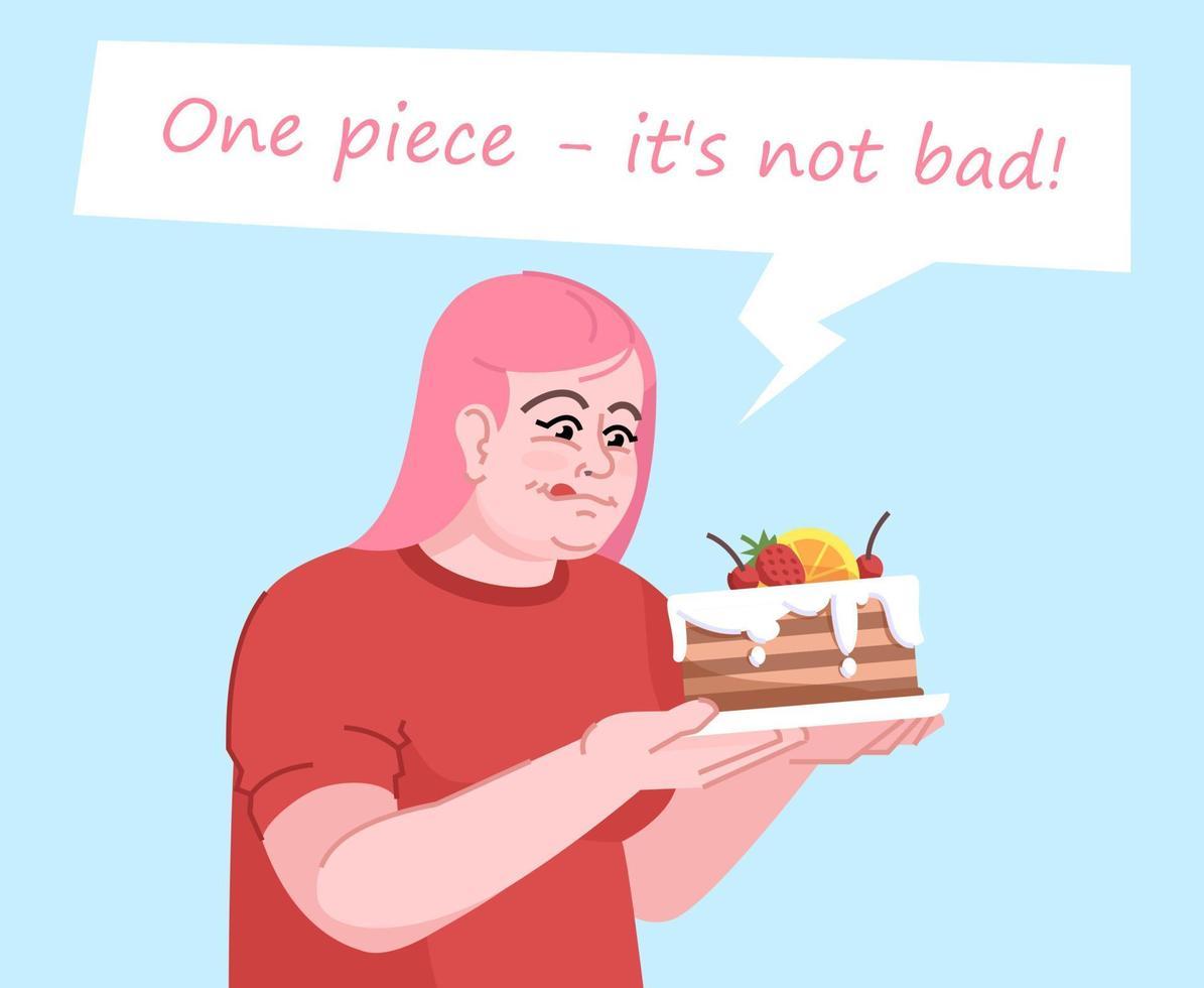 ilustração em vetor cor plana dependência de alimentos