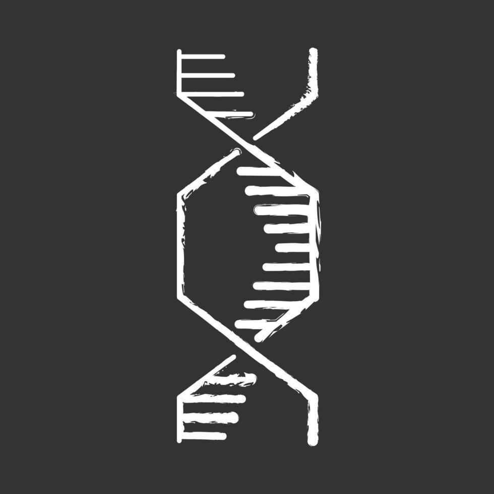 ícone de giz hexagonal de hélice de DNA vetor