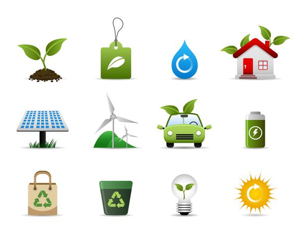 Ícone verde do ambiente. vetor