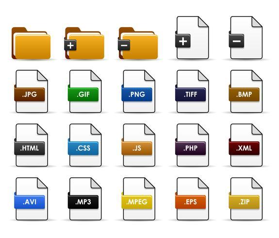 Projeto do ícone da Web da pasta de arquivos. vetor