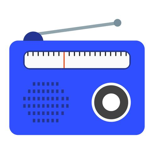 Ícone de vetor de rádio