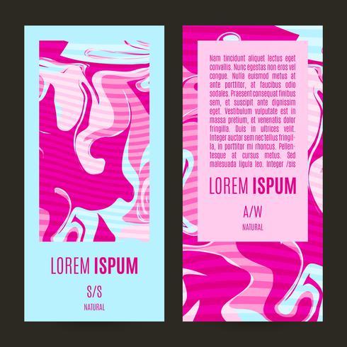 Banners-de-rosa com um design chique gasto vetor