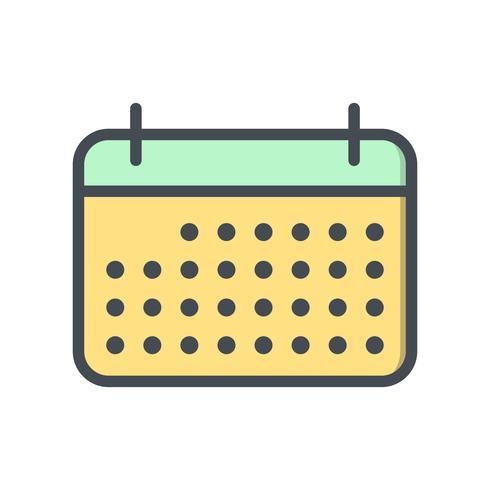 Ícone de calendário de vetor
