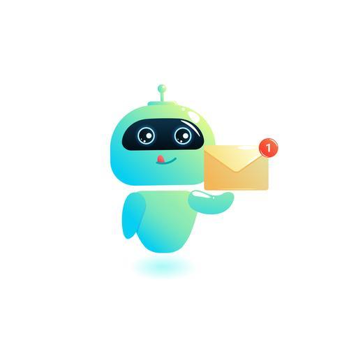 Chatbot escrever resposta para mensagens no chat vetor