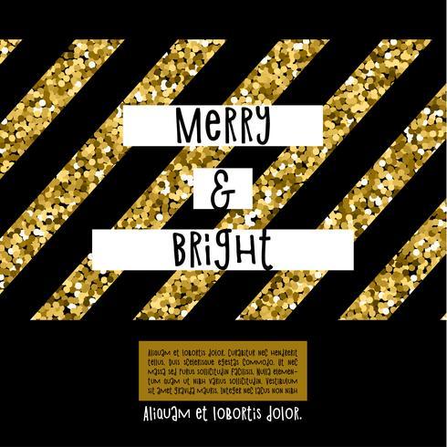 Cartão de Natal brilhante feliz vetor