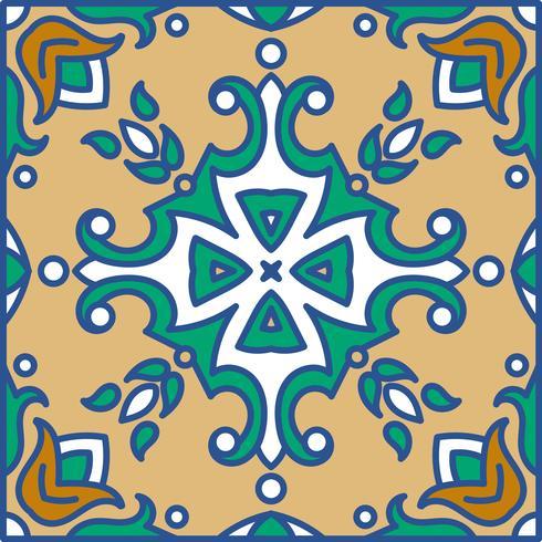 Azulejos portugueses. Patte sem costura lindo azul e branco vetor