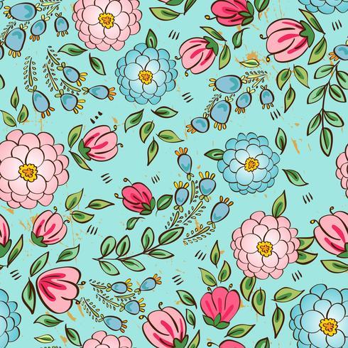 Sem costura padrão floral vetor