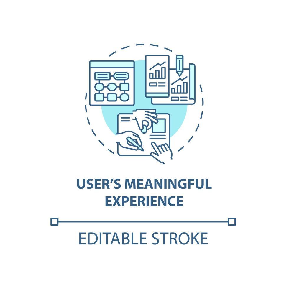 ícone do conceito de experiência significativa do usuário vetor