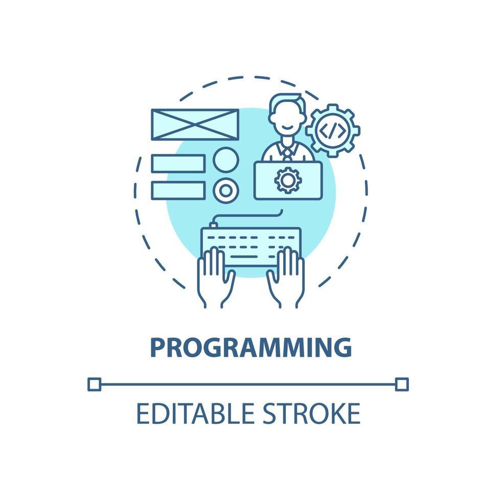 ícone do conceito de programação vetor