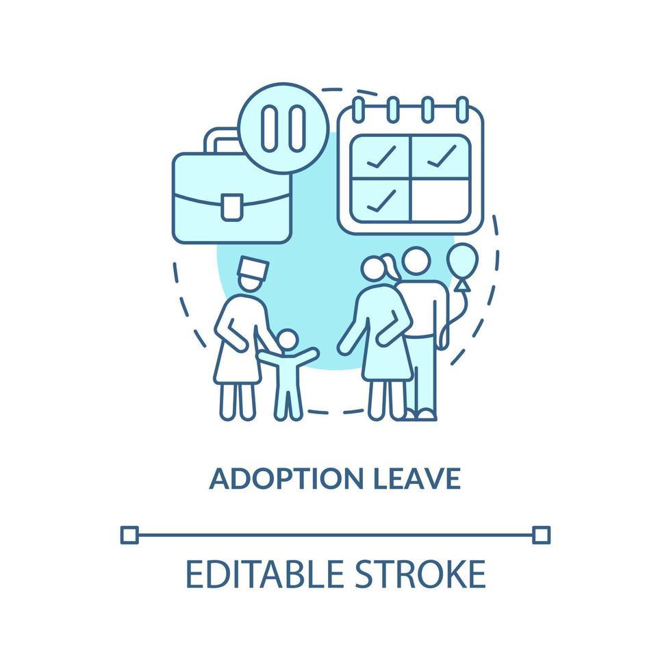 ícone de conceito de licença de adoção azul vetor