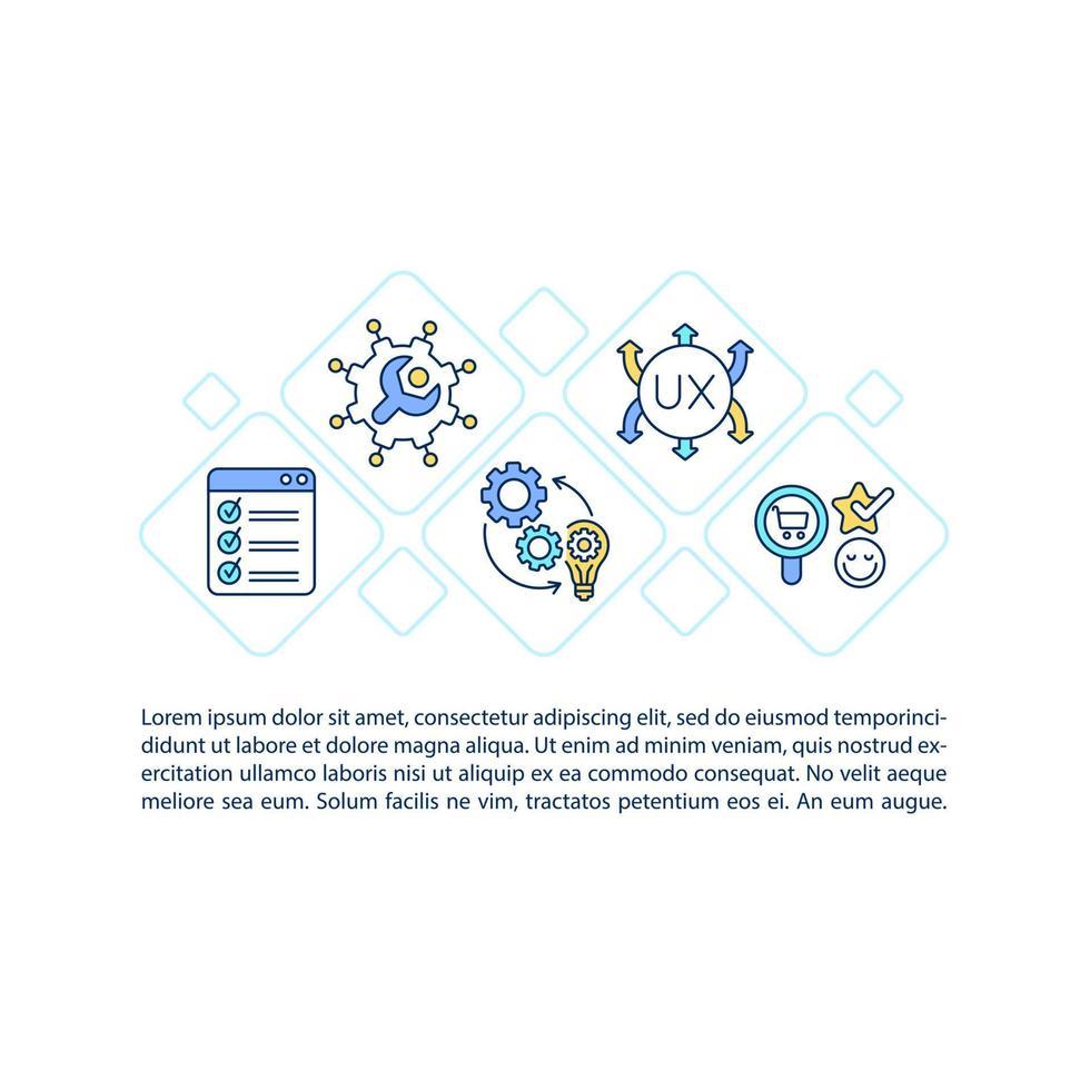 atender às necessidades do cliente ícones de linha de conceito com texto vetor