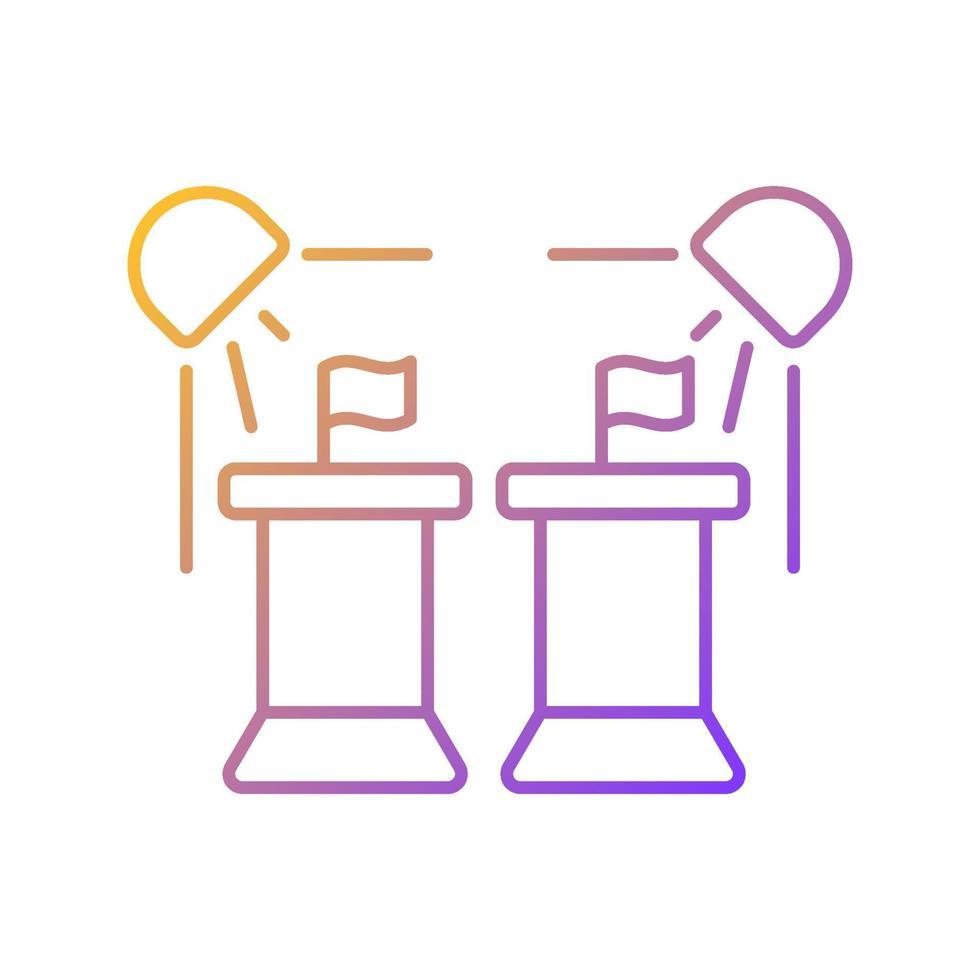 ícone de vetor linear gradiente programa político