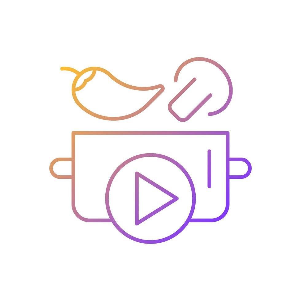 culinária mostrar ícone de vetor linear gradiente