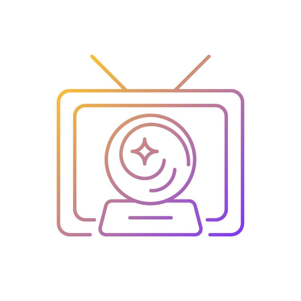ícone de vetor linear gradiente de show místico
