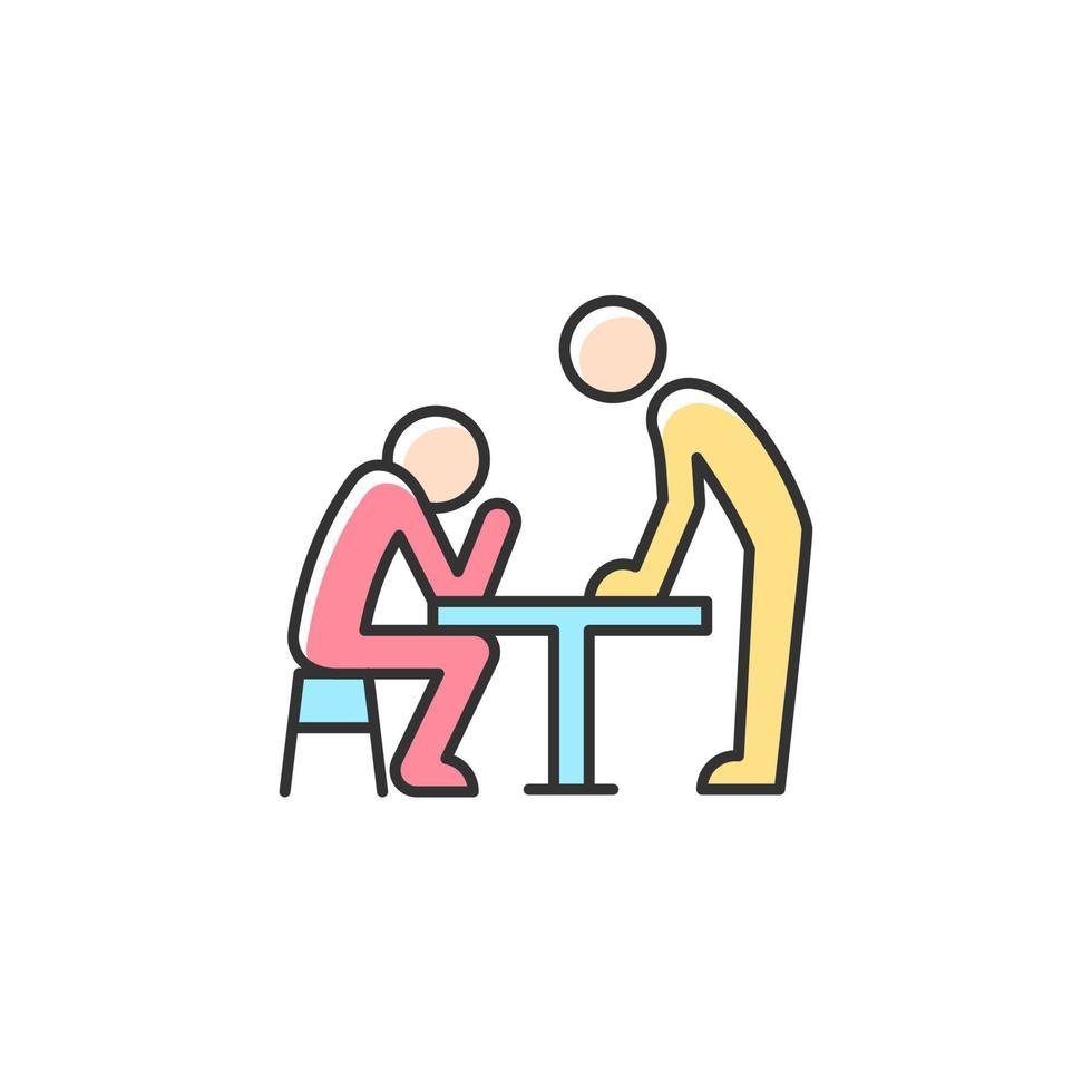 linguagem corporal ícone de cor rgb vetor