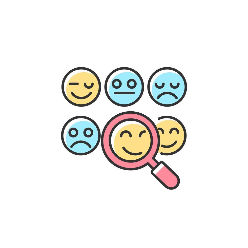 ler emoções ícone de cor rgb vetor