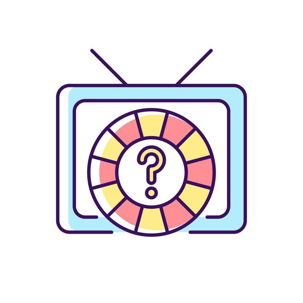 ícone de cor rgb do game show vetor