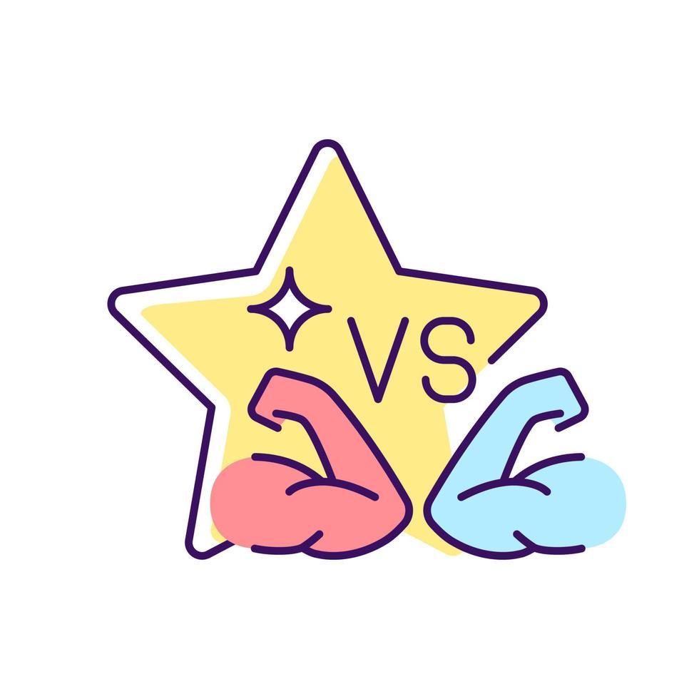 ícone da cor rgb do reality show da competição esportiva vetor