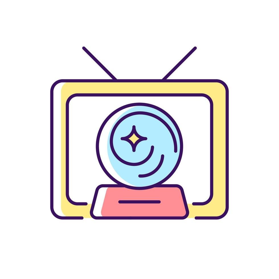ícone de cor rgb do show místico vetor