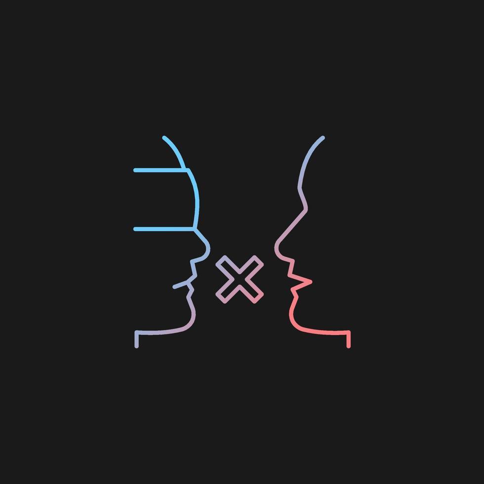 ícone de vetor gradiente de polarização para tema escuro