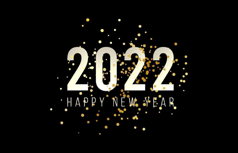 feliz ano novo 2022 com ilustração vetorial de números. design de ano novo e Natal para calendário, cartões ou impressão. fundos modernos de design minimalista. ilustração vetorial. vetor