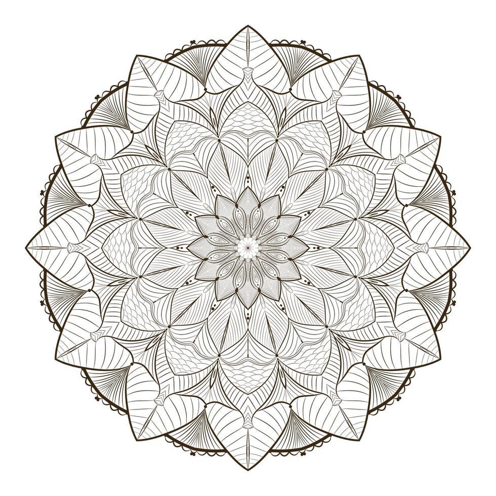 esboço mandala design conceito floral vetor