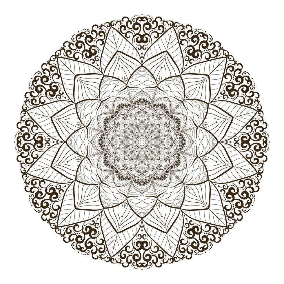 desenho criativo de mandala vetor