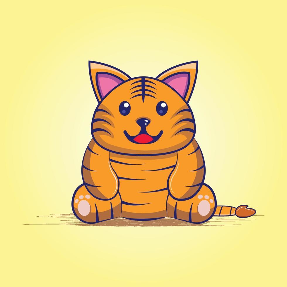 desenho de gato fofo vetor