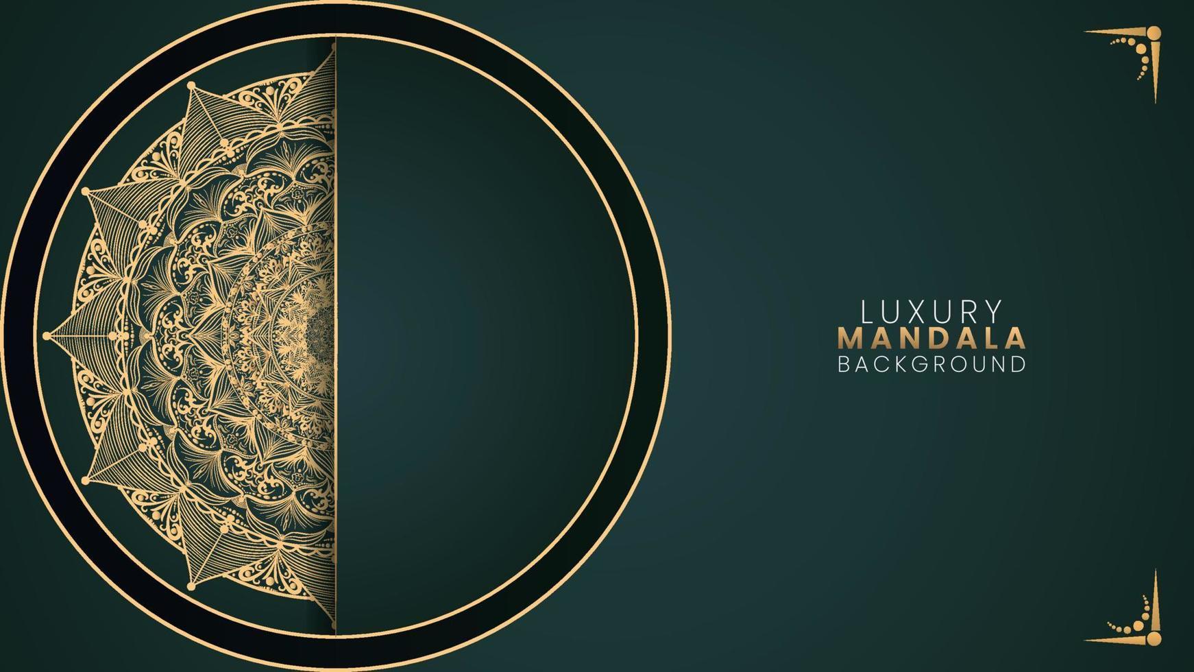 fundo islâmico estilo arabescos dourados vetor