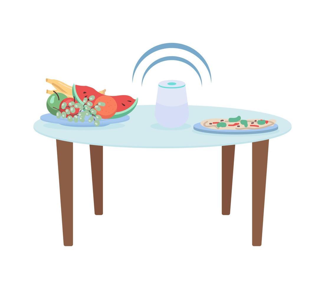 objetos vetoriais de cor semi-plana de cozinha inteligente vetor