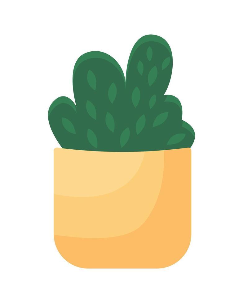 objeto de vetor de cor semi-plana de sebe em vaso