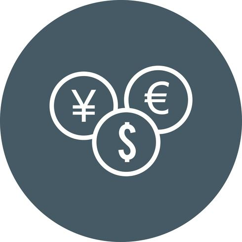 Vector moedas ícone