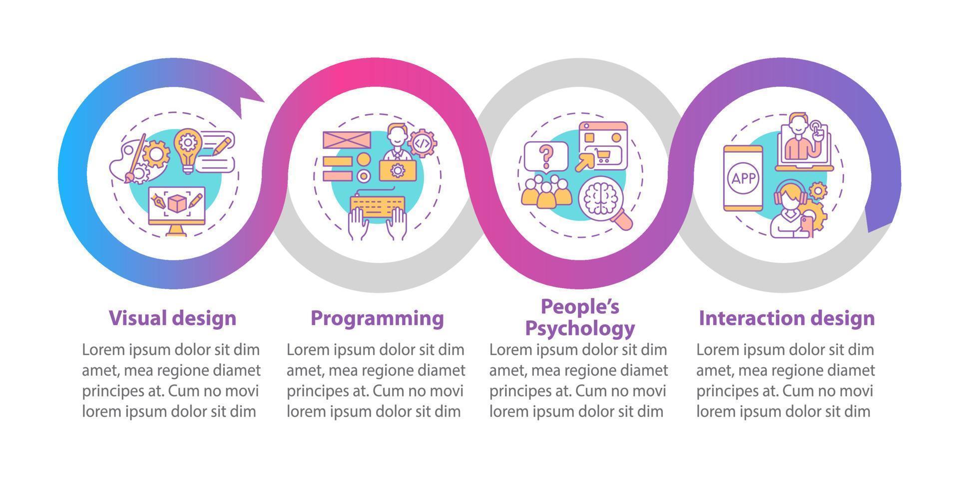 modelo de infográfico de vetor de design de produto
