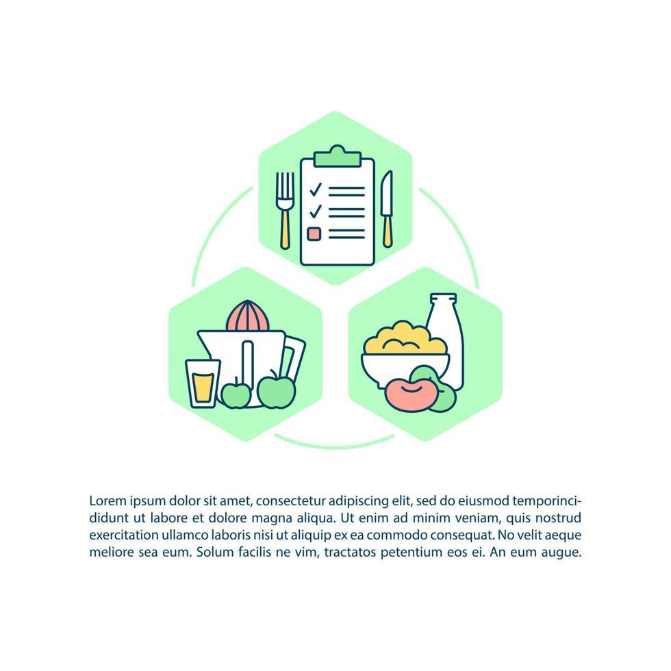 menu para ícones de linha de conceito de família com texto vetor