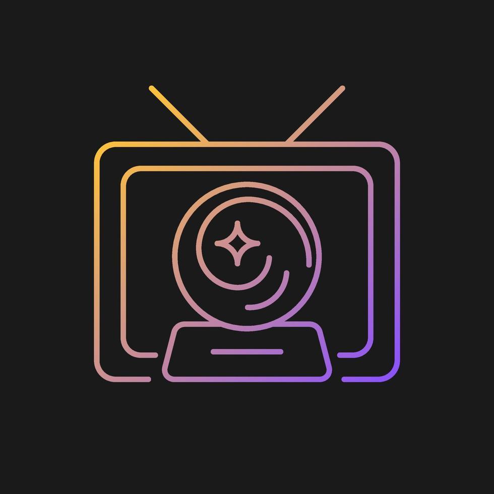 ícone de vetor gradiente de show místico para tema escuro