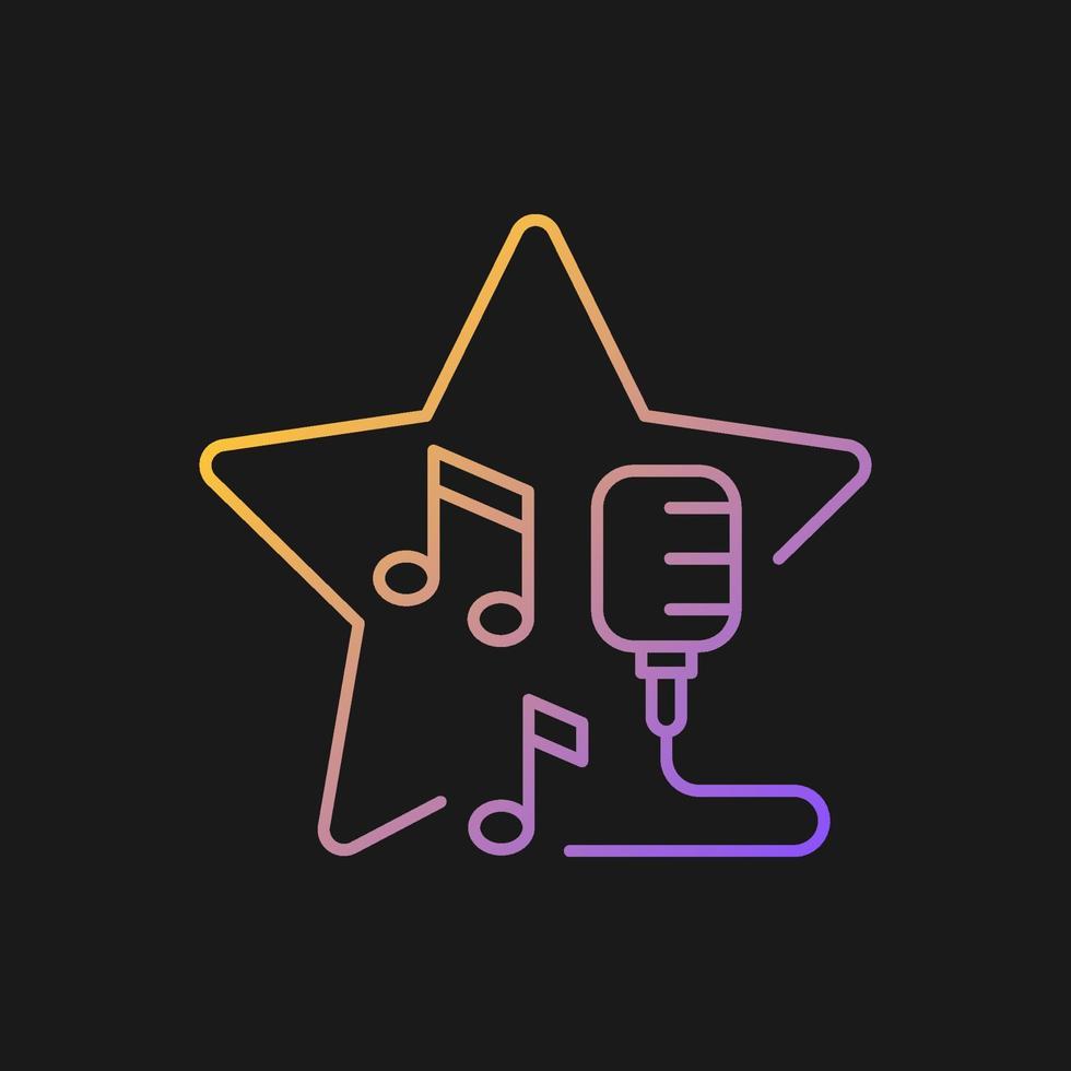 o microfone aberto mostra o ícone do vetor gradiente para o tema escuro