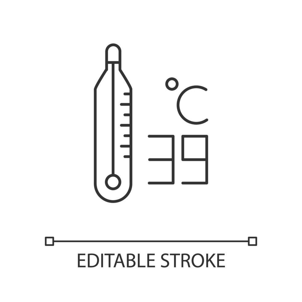 ícone de termômetro linear vetor