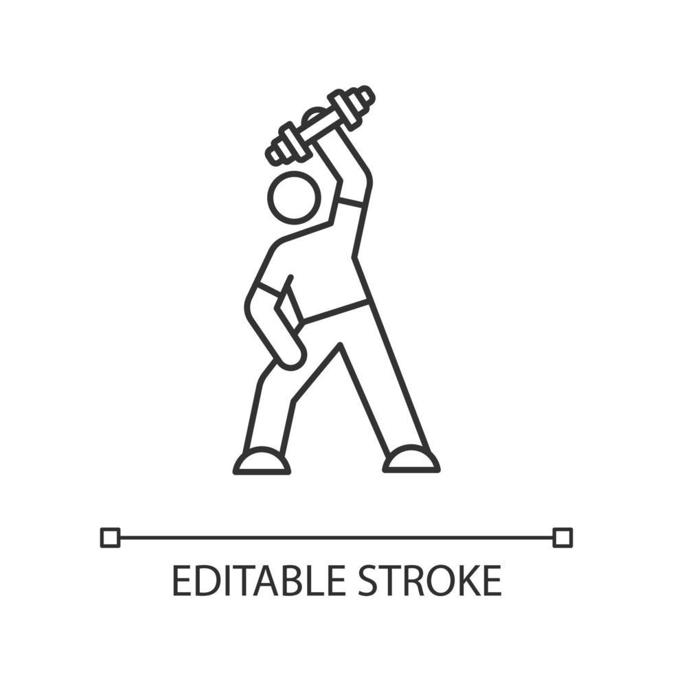 ícone linear de exercício vetor