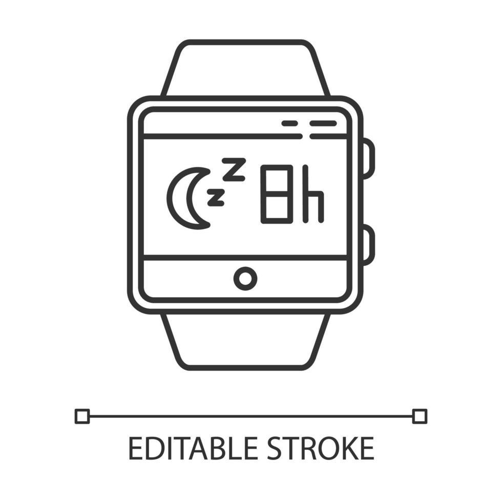 ícone linear da função smartwatch de monitoramento do sono vetor