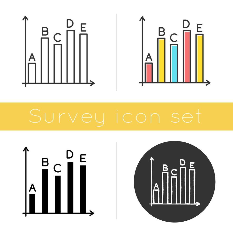 ícone de estatísticas de pesquisa vetor