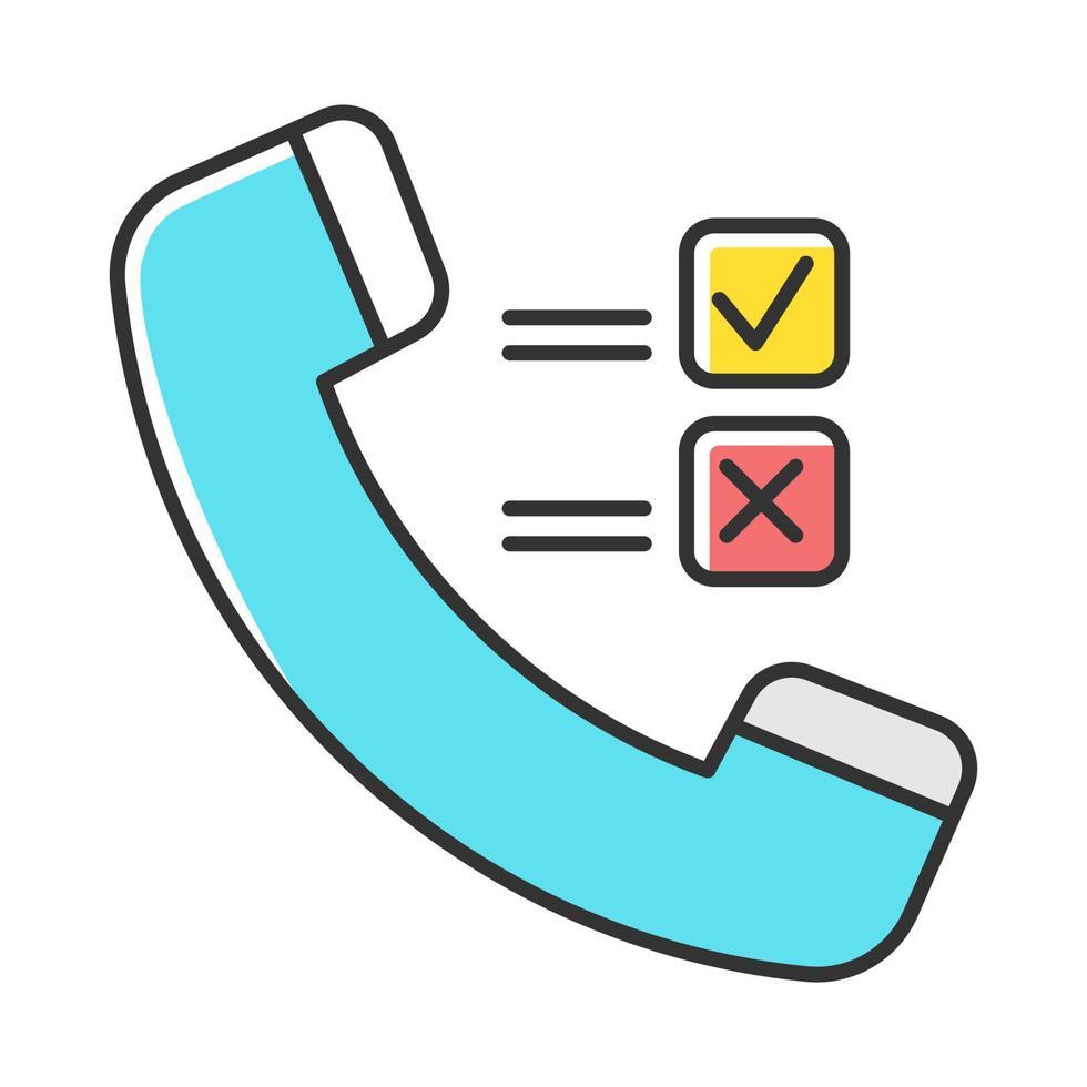 ícone de cor de pesquisa de telefone vetor