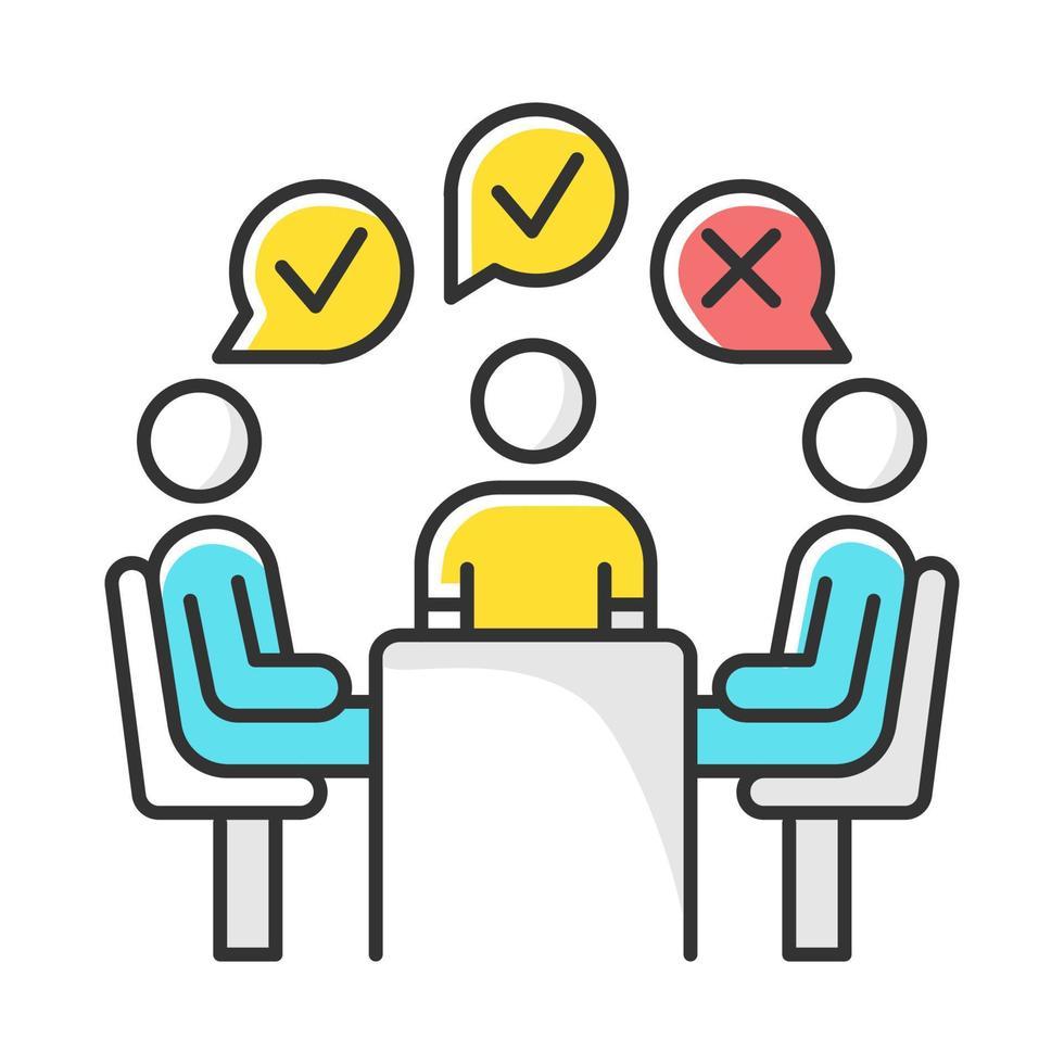 ícone de cor de pesquisa administrado por grupo vetor