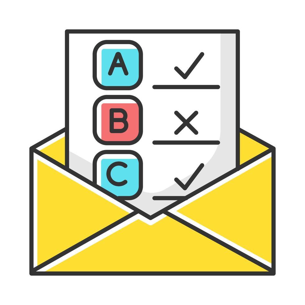 ícone de cor de pesquisa por e-mail vetor